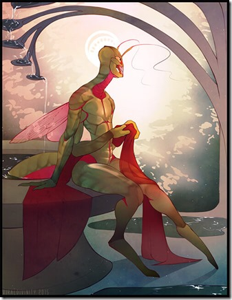Mantis-Being - artist not known