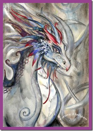 Ancient Wisdom Chronicles - Dragon -- artist - LauraDeligan-art.com