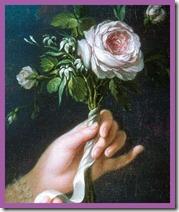 detail - Queen Marie Antoinette - a la rose - le brun