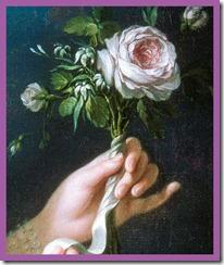 Marie Antoinette - a la rose by artist lebrun - detail