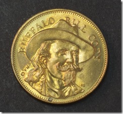 William Cody Buffalo Bill - husky-oil-rugged-american-series-medal-token-coin-buffalo-bill