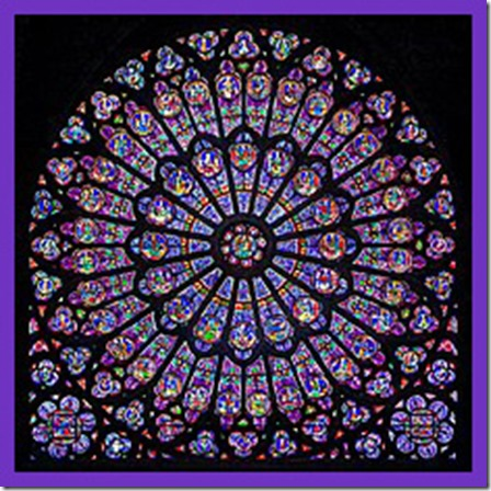 Rayonnant Gothic rose window (north transept), Notre-Dame de Paris Cathedral